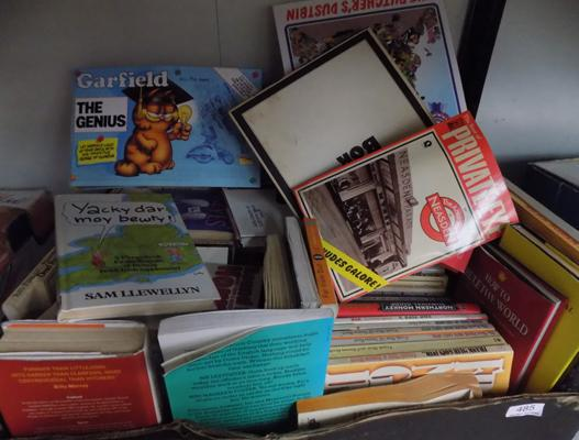 Box of vintage books, incl. Garfield Annuals etc...