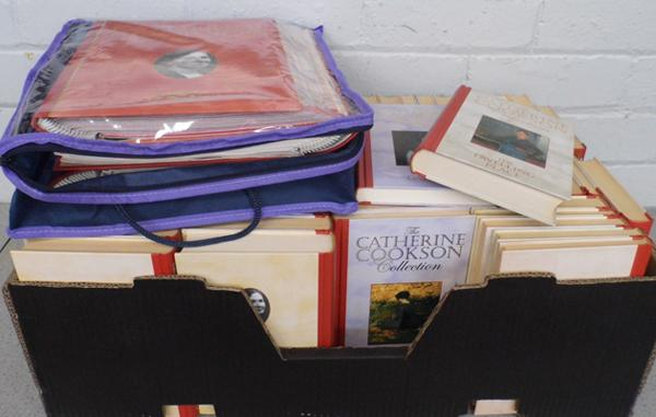 Set of approx. 63 Catherine Cookson books & accompanying magazines