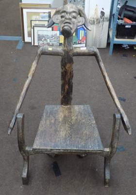 Hand carved Baule tribe chair