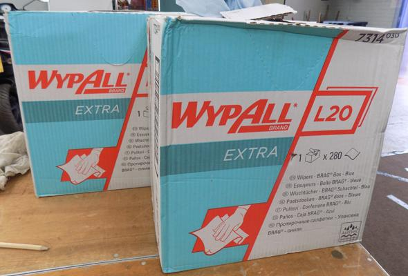 2x Boxes of industrial extra strong paper towels
