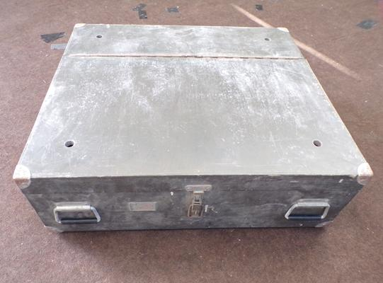 Large lockable wooden toolbox, 31 x 28 x 10 inches