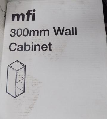 1x 300mm new boxed wall cabinet carcas (more available at matching hammer price)