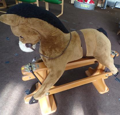 Rocking horse on stand