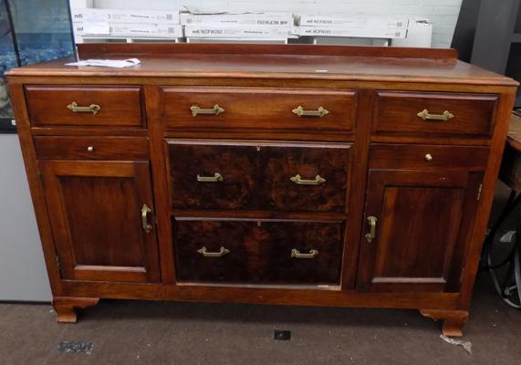 Sideboard with brass handles
