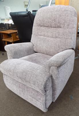 Electric, fabric, three way reclining/standing chair,