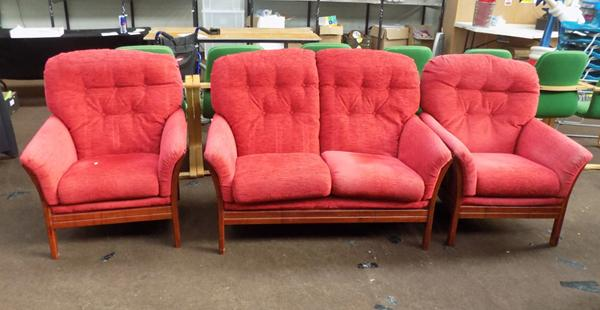 Two seater sofa + matching chairs
