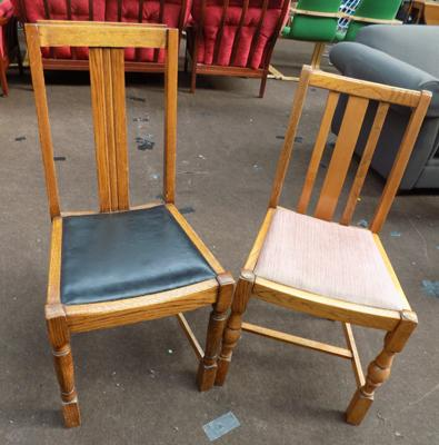 Two oak chairs