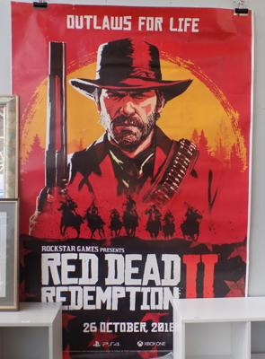 Rare Red Dead Redemption 2,  6 x 4 feet Bus stop poster