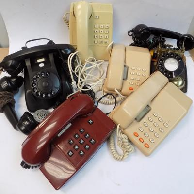 Selection of vintage telephones incl. spares