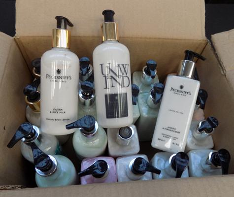 Box of body lotion