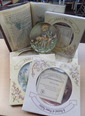 Selection of border fine bone china - festival of fairy plates and fairy book