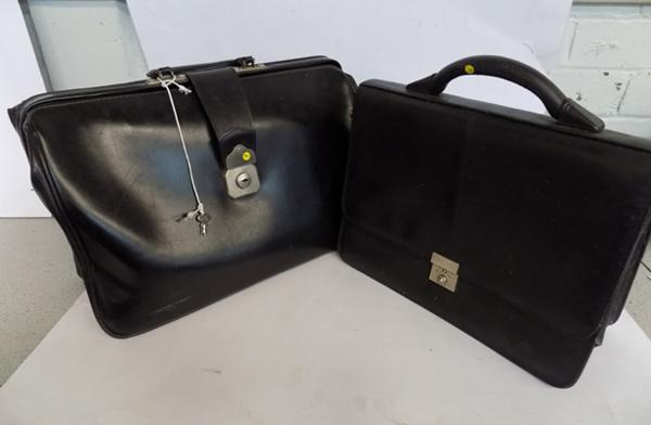 2x old brief cases (one with key)
