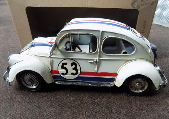 Tin plate 12 inch VW beetle