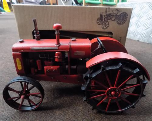 Tin plate tractor