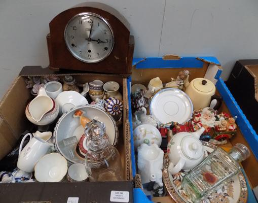 2x boxes of ceramics and collectables