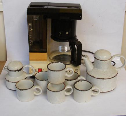 Philips coffee maker & Midwinter coffee set