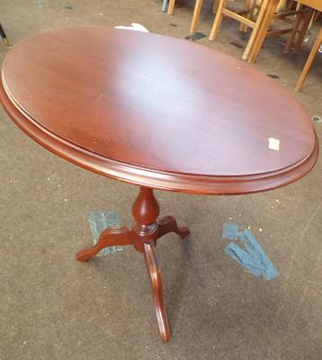 Mahogany occasional table, top 20 x 15 inches, height 22 inches