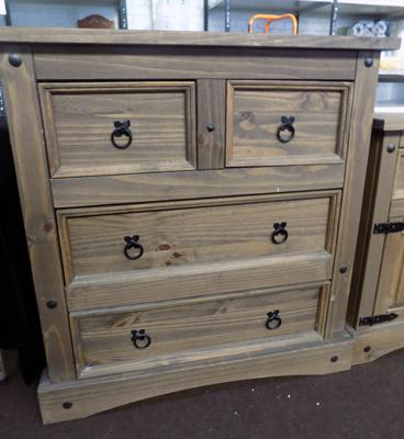 2 over 2 pine drawers