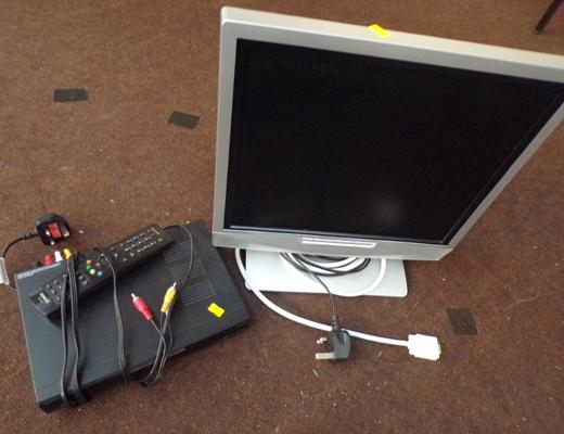 TV, monitor and freeview box
