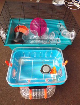 Hamster cages and accessories