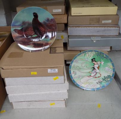Large collection (over 20) of various boxed collector's plates, incl. Bradford Exchange etc... with certificates