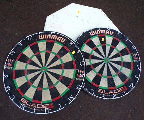 2x dart boards and backing board