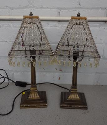 Pair of bedroom/table lamps