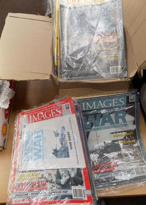 Box of images of war magazines