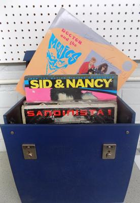 Large collection of punk singles & LPs