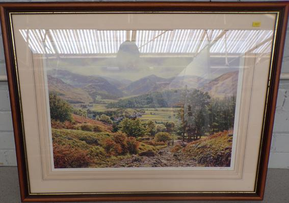 Print of the Lake District, signed