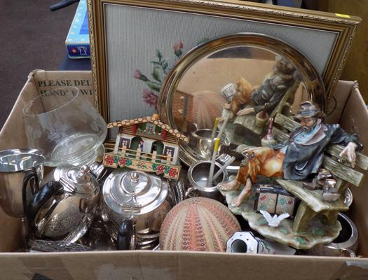 Box of mixed collectables incl. EPNS etc.