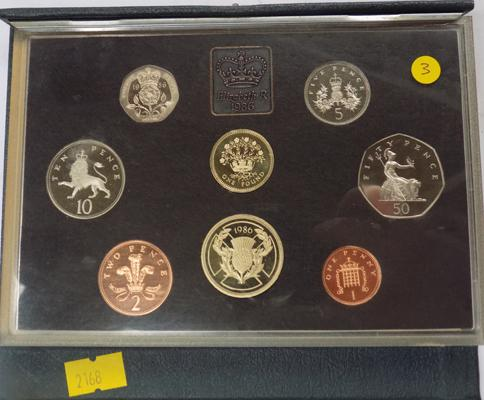 Royal mint proof coin set 1986