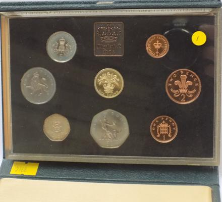 Royal mint proof coin set 1984