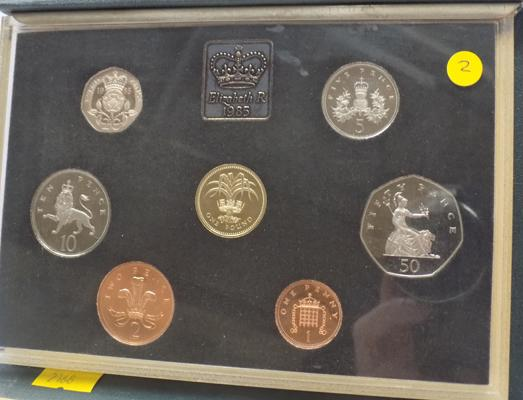 Royal mint proof coin set 1985