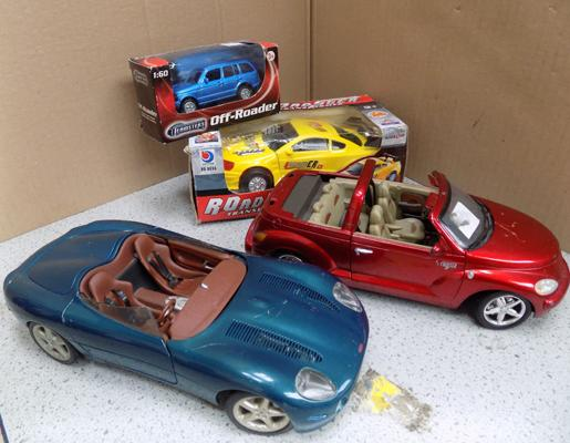 Four collectable cars