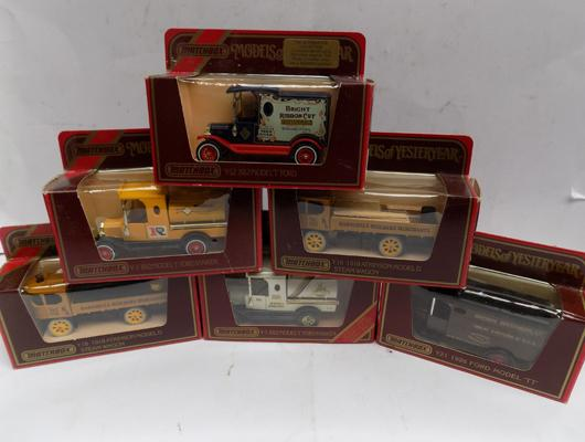 6 Matchbox Models of Yesteryear - all boxed (unused)