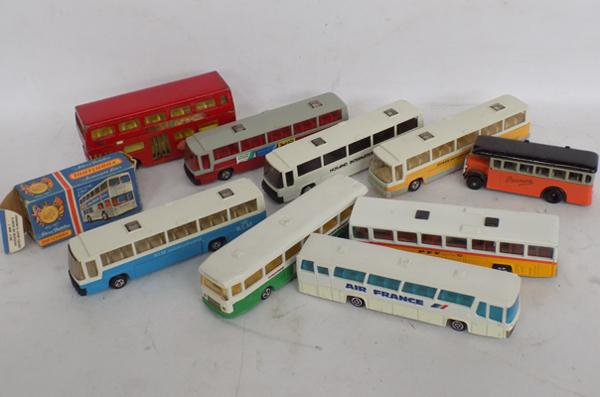 Selection of diecast buses/coaches