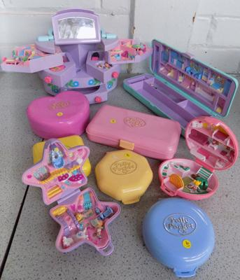 9 x 1980/90 Bluebird Polly Pocket - all new with figures
