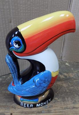 "Guinness Toucan money box - no damage - approx. 9"" tall"