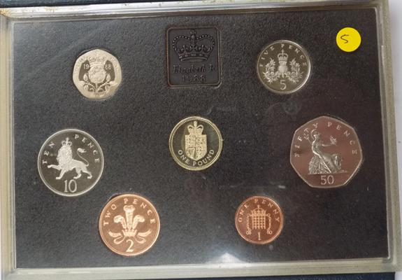 Royal mint proof coin set 1988