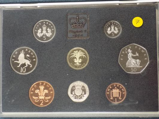 Royal mint proof coin set 1990