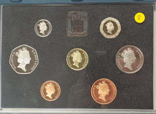 Royal mint proof coin set 1991