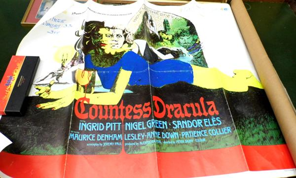 Original Countess Dracula poster in used condition with writing