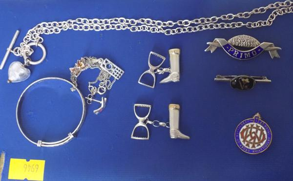 Good selection of silver jewellery, incl. enamel