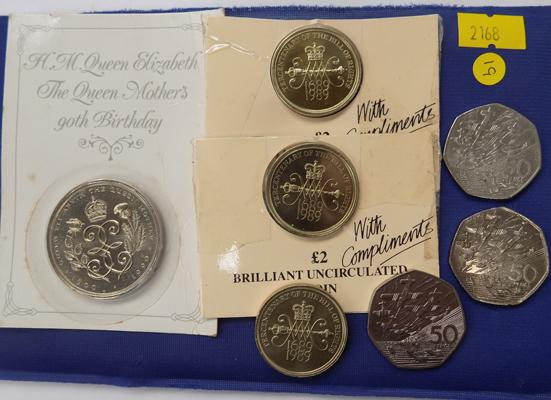 Collection of modern coins