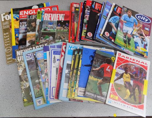 Over 60 football programmes from 1960's - mixture of clubs