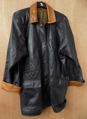 Ladies real leather coat by Corther of Leeds - size L