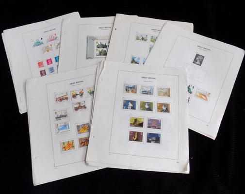 GB Commemorative stamps 1971 - 1980 complete set, very fine, used