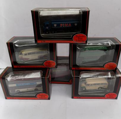 6 exclusive first edition buses - all boxed (unused)