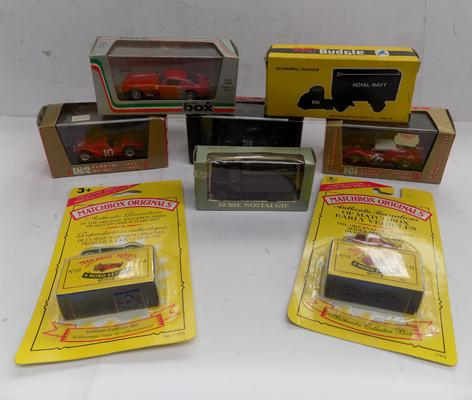 8 various cars and vans incl. 3 Brumm and 2 Matchbox - all boxed